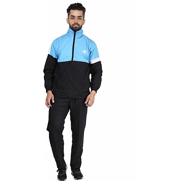HPS Sports Sky Black Micro Active Tracksuits