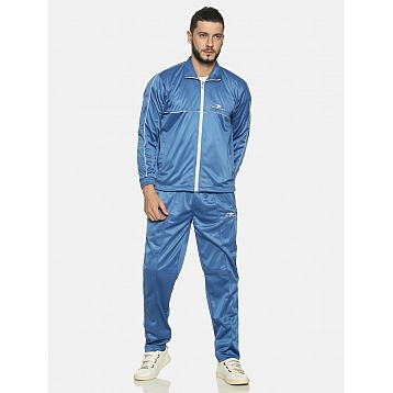 HPS Sports Royal/White Pipping Polyester Tracksuit