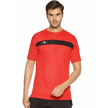 HPS Sports Red Round Neck T shirts