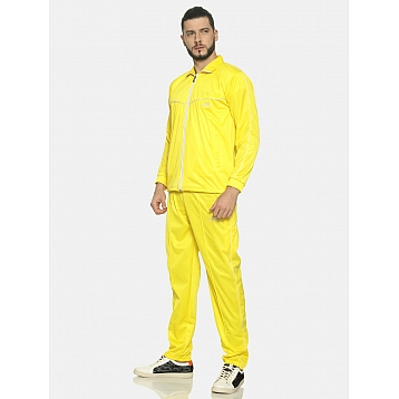 HPS Sports Yellow/White V Pipping Polyester Tracksuit