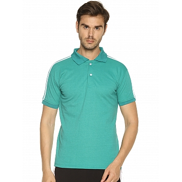 HPS Sports Half Sleeve Green T shirt