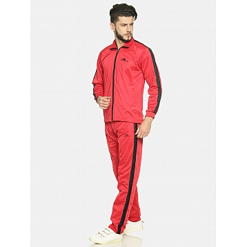 HPS Sports Red /Black Patta Polyester Tracksuit