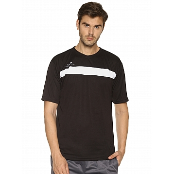 HPS Sports Black Round Neck T Shirts