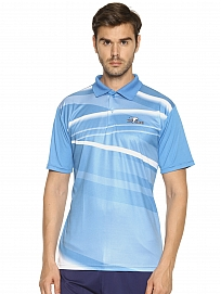 HPS Sports Men's Polo Neck Blue T-Shirt