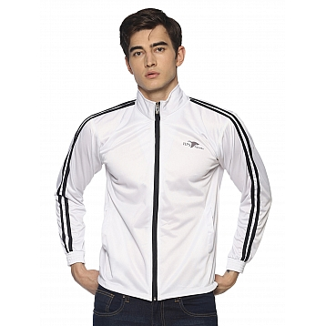 HPS Sports White Polyester Jackets
