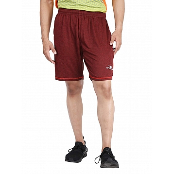 HPS Sports Solid Men's Red Shorts