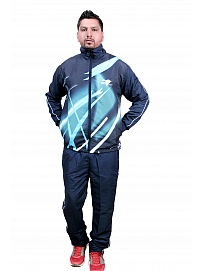 HPS Sports Self Design Men Blue Track Suit