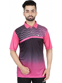 HPS Sports Men's Polo Neck Pink T-Shirt