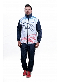 HPS Sports Self Design Men White Track Suit
