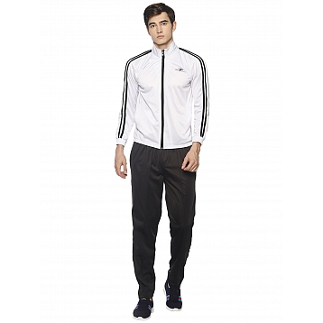 HPS Sports White Black Polyester Tracksuits