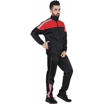 HPS Sports White line Red Polyester Tracksuits