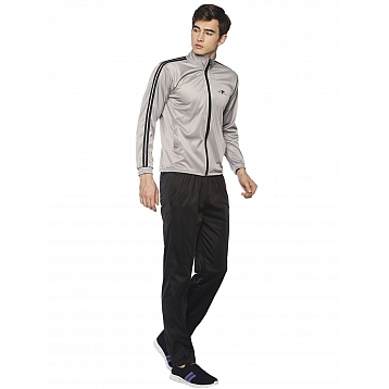 HPS Sports Silver Black Polyester Tracksuits