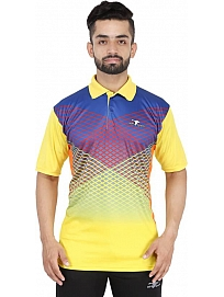 HPS Sports  Men's Polo Neck Yellow Tee Shirt