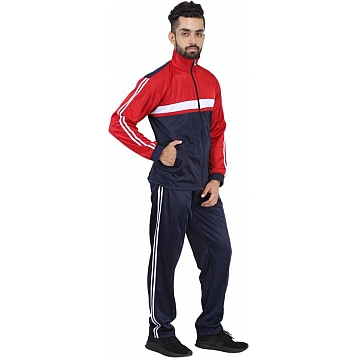 HPS Sports Solid  Red Track Suit