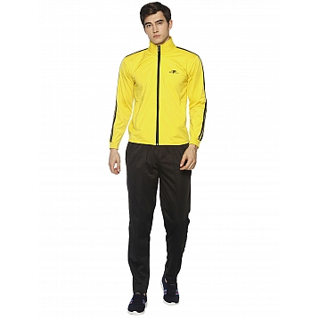HPS Sports Yellow Black Polyester Tracksuits