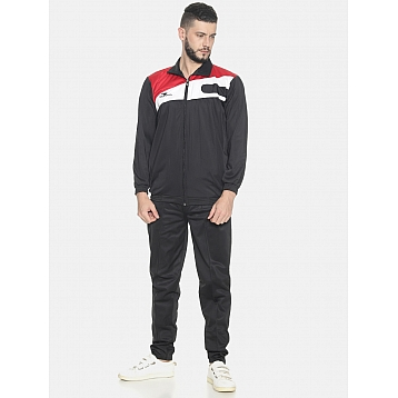 HPS Sports Black / Red & White Polyester Tracksuit