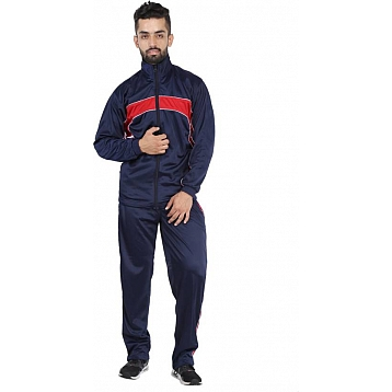 HPS Sports Red Navy Blue Polyester Tracksuits